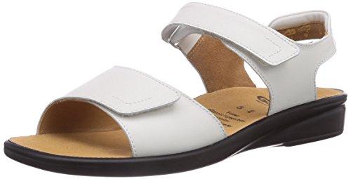 Ganter Sonnica, Weite E 3-202857-02000 - Sandalias clásicas de Cuero para Mujer, Color Blanco, Talla 37.5