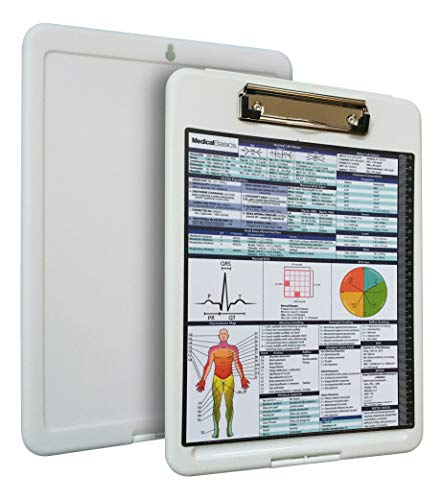 Premium Medical Storage Clipboard with Quick Medical Reference Sheet - Clipboard for Doctors, Medical Students, Physician Assistants, and Nurse Practitioners