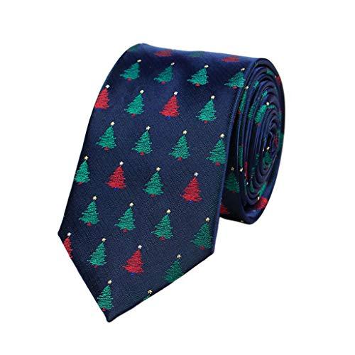 Cgration Herren Weihnachts-Krawatten Neuheit Bunter Weihnachtsbaum Weihnachtsmann Schneeflocke Gedruckt Urlaub Motto Party Spaß Pfeil Krawatten Kostüm