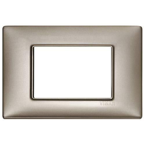 Vimar 14653.74 Plana Placca 3 Moduli nichel perlato
