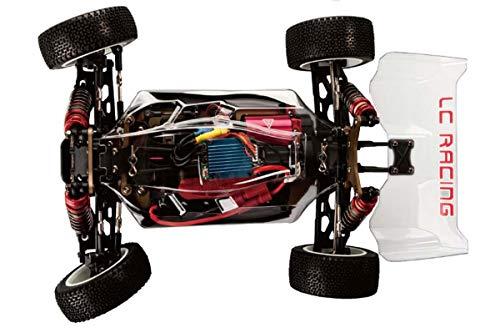 LC-Racing Mini Brushless Buggy 1:14 KIT EMB-1HK | ideal für den einbau eines Brushless Antriebes | bis zu 80 Km/h möglich (mit 3S Akku) | 4-Rad Antrieb | komplett Kugelgelagert | Aluminium Öldruckstoßdämpfer | Aluminium Kardanwelle | gekapselter Antrieb | Carbon Tuningteile erhältlich | Bausatzmodell | diverse Umbaumöglichkeiten | Stabilisatoren inklusive | hohe Passgenauhigkeit