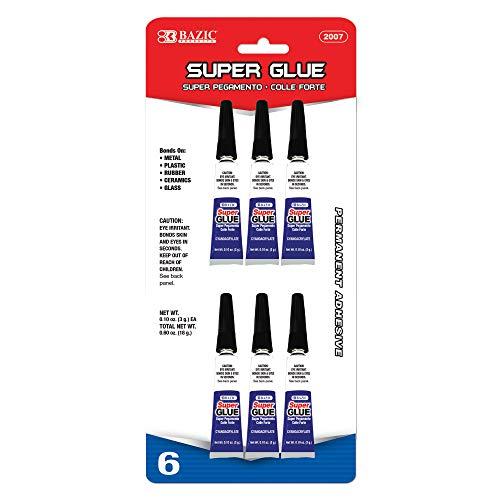 BAZIC 3g / 0.10 Oz. Super Glue (6/Pack)