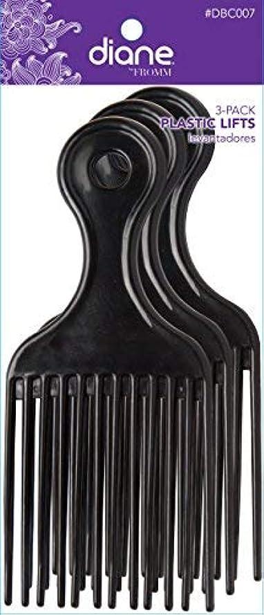 報復取り替えるブルDiane Plastic Lift Black (3 PACK) [並行輸入品]