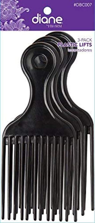 歩き回る数体細胞Diane Plastic Lift Black (3 PACK) [並行輸入品]