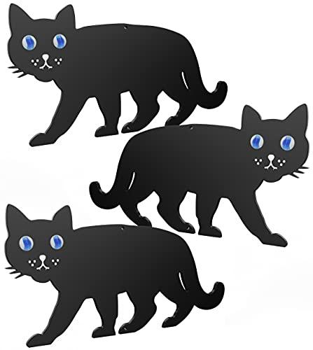 Medipaq BLACK METAL GARDEN CAT SCARER WITH MARBLE EYES...