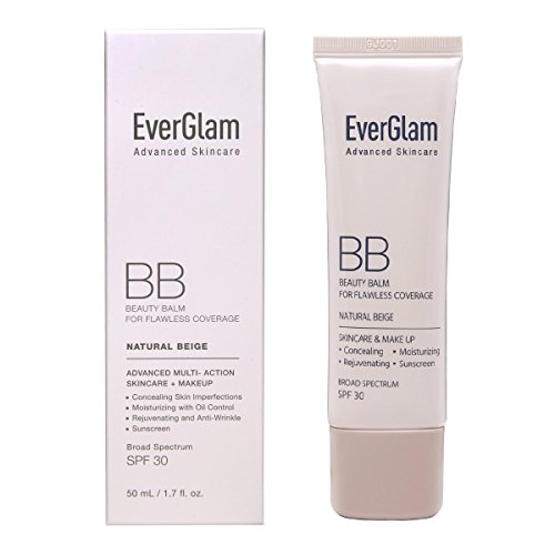 EverGlam K-Beauty Skin Perfector Korean BB Cream, Light Medium - Flawless, Natural Glow in Seconds   Multi-Function Tinted Moisturizer: Stays On All Day, Dewy, Water-Resistant, Oil-Controlling, SPF 30