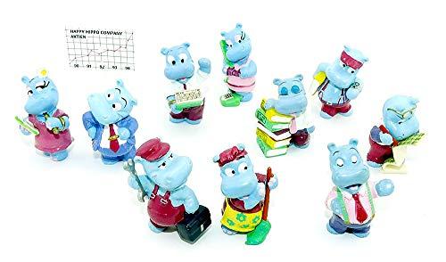 Kinder Überraschung 10 Figuren der Happy Hippo Company von 1994 (Komplettsätze)