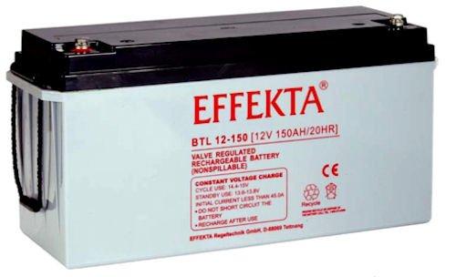 EFFEKTA BTL12-150 / 12V 150Ah AGM Blei Akku Batterie
