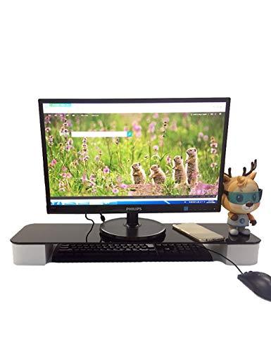 WXQIANG Soporte de mesa multiusos de bambú para ordenadores, ordenadores portátiles, impresoras, para la mayoría de los estantes de marcas de ordenador, duradero y protector (color: blanco)