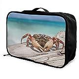 Qurbet Bolsas de Viaje, Lightweight Large Capacity Portable Duffel Bag for Men & Women Stone Crab Sport Duffel Bag Backpack
