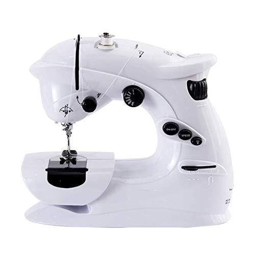 Nynel Mini máquina de coser eléctrica portátil para principiantes, 7 puntos integrados, pedal de pie, perfecto para coser todo tipo de telas