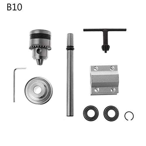 Lathe Accessories B10/B12/B16 Electric Drill No Power Spindle Assembly DIY Woodworking Cutting Grinding Small Lathe Trimming Belt Drill Chuck SQNMKB (Color : 1)