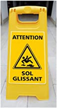 Chevalet de signalisation - Attention Sol Glissant - Dimensions 600x300mm