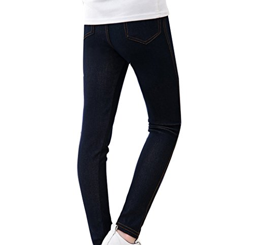 Guiran Kinder Warme Leggings Mädchen Leggins Hose Slim Fit Jeggings Legins Hosen Schwarz 140CM