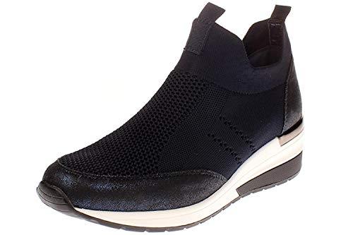 La Strada 1901764 - Damen Schuhe Freizeitschuhe - 4560-knitted-blue, Größe:39 EU