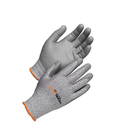 Worksafe Schnittschutzhandschuhe Level 3, EN388, CUT3-107 – Griffsicher, reißfest, 1 Paar, Größe 8=M