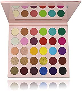 Matte and Shimmer 30 Colors Chunky Eyeshadow Palette Pop Colors Blendable Eye Shadow Powder Make Up Waterproof Eye Shadow Palette Cosmetics