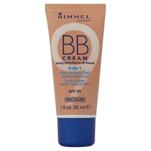 Rimmel BB Cream 9 In 1 Skin Perfecting Super Make Up SPF 25 30ml-Medium