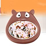 Ice Rolls-Maschine, Fried Joghurt-Maschine Haushalt Kleine Mini Eismaschine Kinder Selbstgemachtes Fruchteis Eisbrei Fried EIS-Behälter,Braun