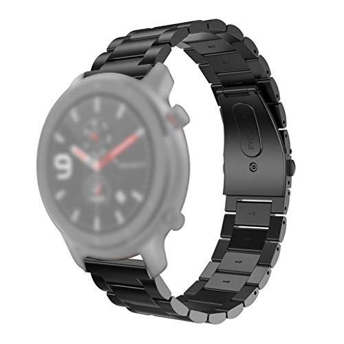 AGUIguo - Correa de Acero Inoxidable para Reloj Inteligente AMAZFIT GTR (42 mm)