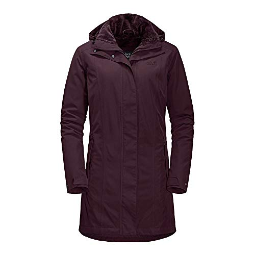 Jack Wolfskin 1107732 Madison Avenue Damen Outdoormantel wind- und wasserdicht, Groesse 42/44, burgund