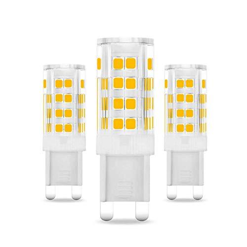 ZHFF Bombilla LED G9 Regulable con luz 10W Equivalente a Bombillas halógenas de 100W, Blanco cálido 3000K, Bombillas LED con Enchufe G9, sin Parpadeo, Bombilla LED de 1000LM