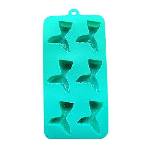 Treasure Gurus Silicone Mermaid Ice Cube Gummy Mold Freezer Tray Hard Candy Chocolate Weed Edibles Maker