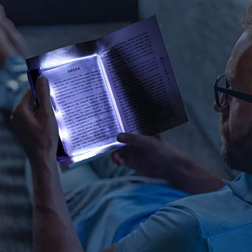 Luz de Lectura, VISLONE LED Luz de Libro , ablero de Lámpara de Luz Brillante de Lectura LED, Lámpara de Protección Ocular Luz de Noche para Lectura Nocturna, Viaje