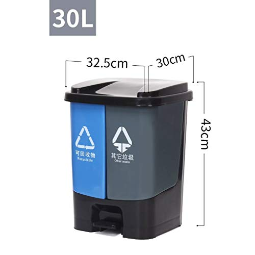 Buy Discount WQEYMX Outdoor Trash can Classified Trash can Home Kitchen Office Foot Recyclable Plast...