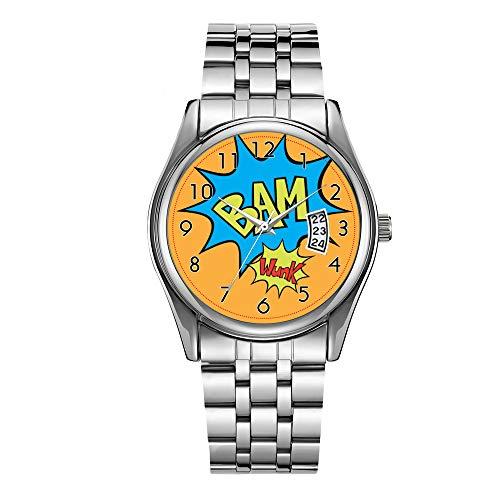 Reloj de pulsera para hombre de lujo, resistente al agua, 30 m, reloj deportivo para hombre, cuarzo, casual, Navidad, cómic, con globo