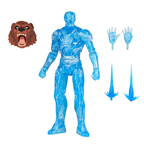 Hasbro Marvel Legends Series 6-inch Hologram Iron Man Action Figure Toy, Premium Design and Articulation Includes 2 Accessories and 1 Build-A-Figure Part