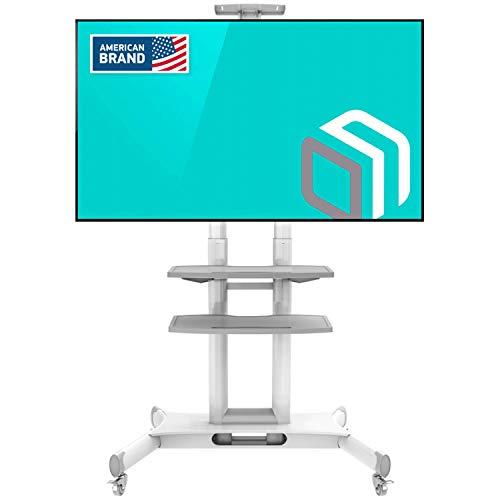"""ONKRON Supporto TV Mobile con Rotelle Carrello TV, Stand Porta per Schermi 32\"""" a 65\"""" Pollici LCD LED Plasma - CARICO FINO 45.5 kg - VESA 100 x 100-600 x 400 mm (TS1552)"""