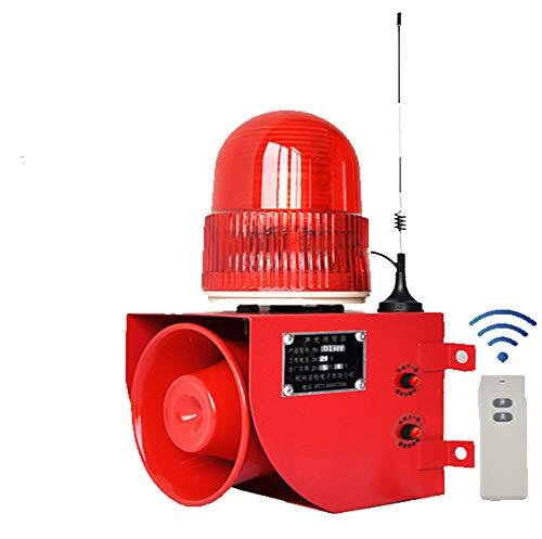KEKE Drahtloser Hausalarm Außensirene, Alarmanlagen fürs Büro, Funkalarm Mit Lautem Ton Und Hellem Licht