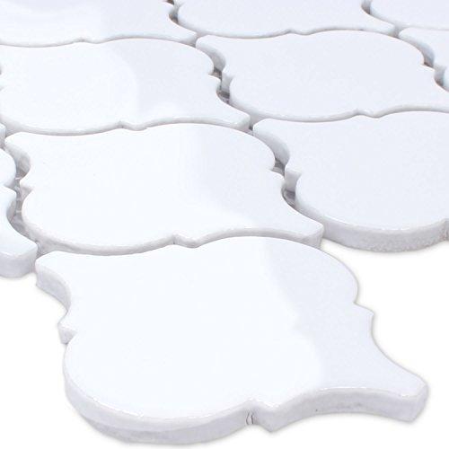 Keramik Mosaik Florentiner Weiss Glänzend