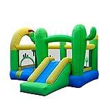 FGVDJ Castle Bouncer mit Rutsche Kids Inflatable Bouncy Castle Aufblasbares Trampolin mit Gebläse...
