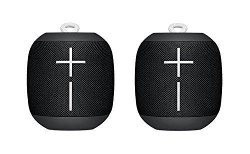 Logitech UE WONDERBOOM Portable Bluetooth Speaker Subzero BLACK (2-Pack)
