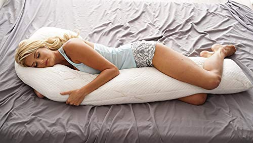 Back Support Systems Better Body Pillow, Shredded Memory Foam | Comfort & Support System | Plush Bamboo Pillow Cover | Complete Orthopedic Support | Made in USA (Contoured, Better)