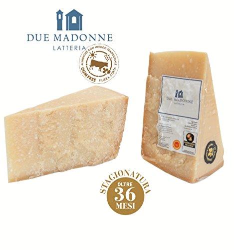 Parmigiano Reggiano Dop di primissima scelta dal 1939 Stagionatura 36 mesi, ottimo per la grattugia. Si accompagna perfettamente ad un aceto balsamico Latte da bovine alimentate con prodotti naturali privi di O.G.M.