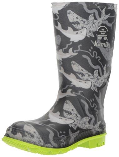 Kamik Boy's STOMP2 Rain Boot, Black, 11 M US Little Kid