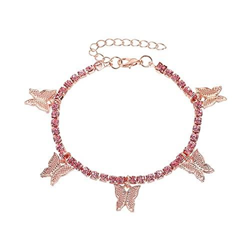 yqs Tobillera de Mujer Moda Crystal Toblet For Women Foot Jewelry Playa de Verano Barefoot Pulsera Tobillo en la Correa de la Pierna Accesorios de joyería (Color : B)