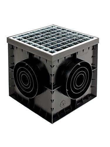 SP Hofablauf 300x300mm Kl. A15 Hofsinkkasten mit Siphon Gully KG Rohr Revisionsschacht