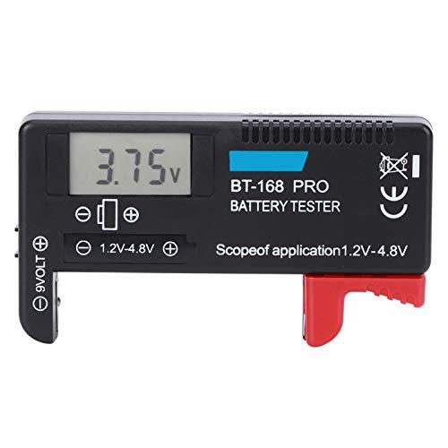 Oumefar Comprobador de batería de 1,2 V-4,8 V Comprobador de Carga portátil de Alta precisión Digital para Pilas pequeñas Botón para el hogar