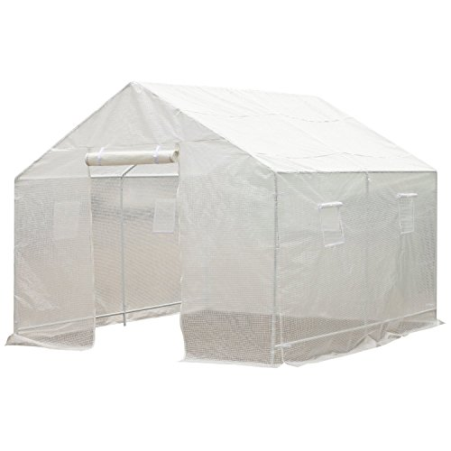 Outsunny 10' x 9.5' x 8' Ventilated Portable Walk-in Greenhouse with PE Cover