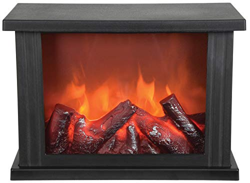 Lyyt LED Fireplace Display, Black