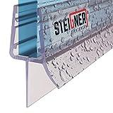 STEIGNER Joint de douche pour paroi en verre, 90cm, vitre 7/8 mm, joint d'étanchéité PVC droit pour les cabines de douche réctangulaires, UK33-08