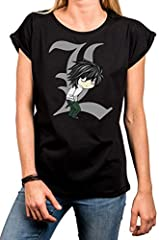 MAKAYA Anime T-Shirt con Manga Corta - Death by Ryuk - Camiseta Frikis para Mujer