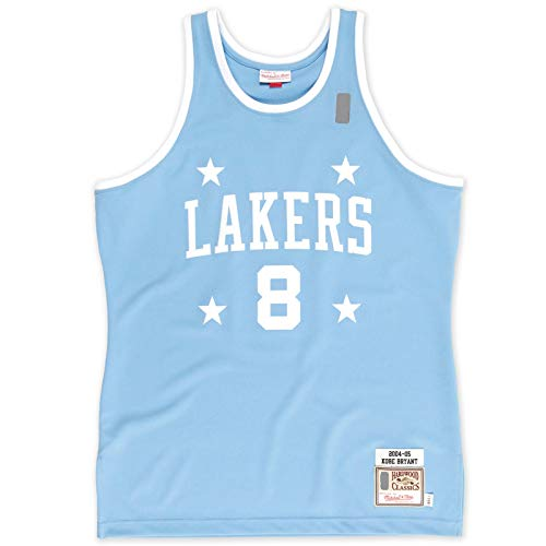 Los Custom Bryant - Camiseta de baloncesto sin mangas, diseño de Angeles Sports Lakers - Azul claro -#8 Classics Player Jersey Icon Edition-XL