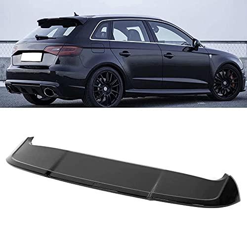 MJCDNB Materiale ABS Spoiler del Bagagliaio del Tetto Posteriore dell'auto, per Audi A3 8V Sportback 5-Door 2013-2020 Wing Tail Top Window Bumper Portellone Lip Sticker Accessori Auto Decorazione
