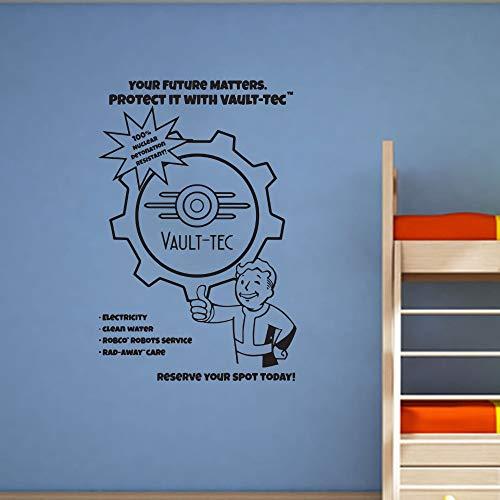 Fallout Art Decor Game Vinyl Wall Art Decal para habitaciones de niños Chicos de la habitación Dormitorio Mural88 x 58 cm