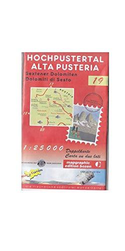 Alta Pusteria - Dolomiti di Sesto carta escursionistica N 19 scala 1:25.000